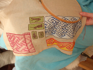A close up of the sampler