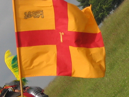 One of the battle flags