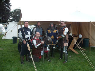 The boys from OFK and Team Falchion ready for battle