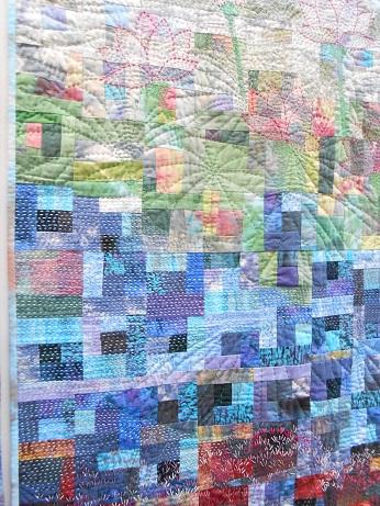 Quilt Festival Rainbow flower 2