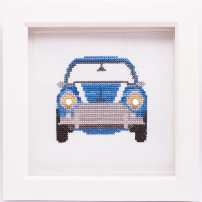 pimped up mini cross stitch kit image