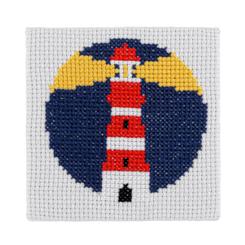 Mini Lighthouse Cross Stitch Kit | STITCHFINITY