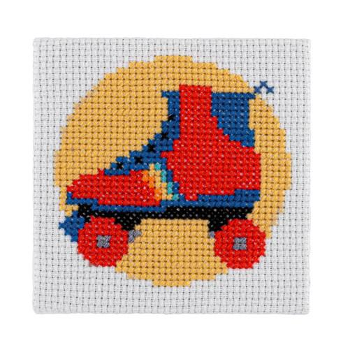 Mini Roller Skate Cross Stitch Kit | STITCHFINITY