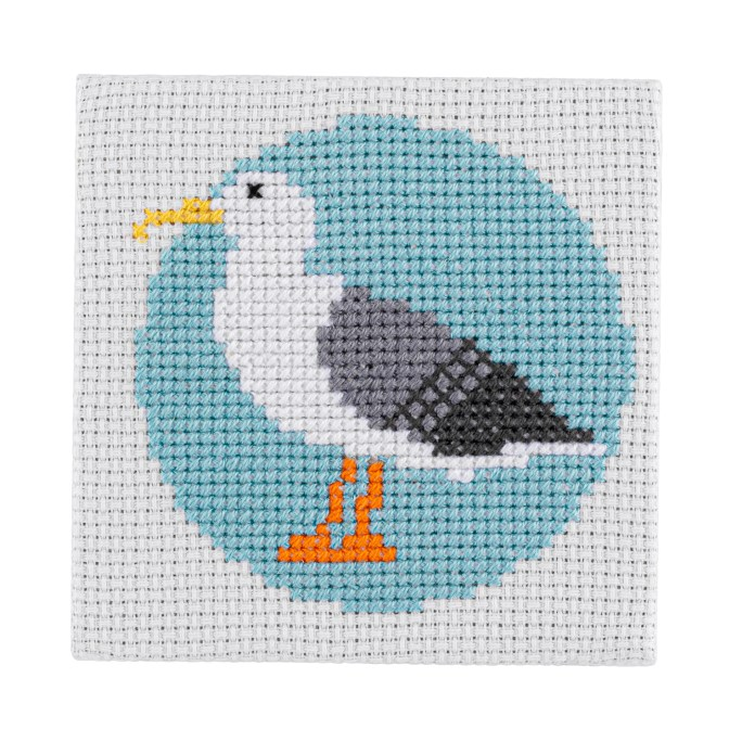Mini Seagull Cross Stitch Kit | STITCHFINITY