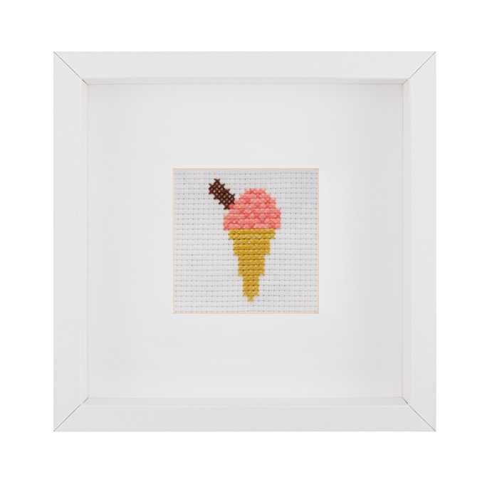 Beginner Ice Cream Cross Stitch Kit | STITCHFINITY
