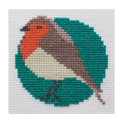 Mini Robin Cross Stitch Kit | STITCHFINITY