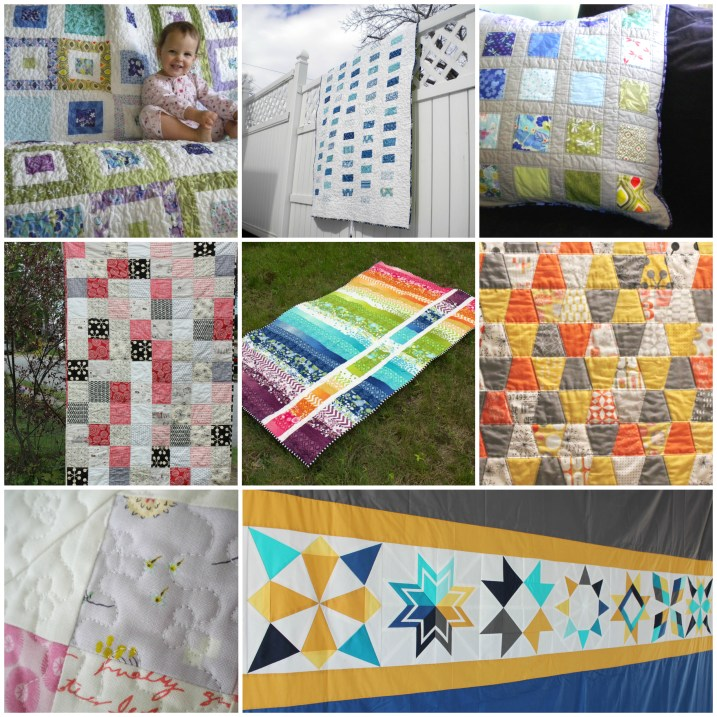 Finished Quilts Collage 2013