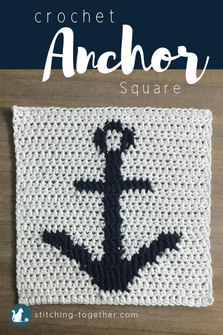 Anchor Stitch : anchor, stitch, Crochet, Anchor, Square