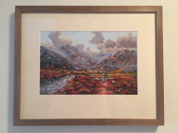 'Setting out' by DMC and framed by Jan d'Art