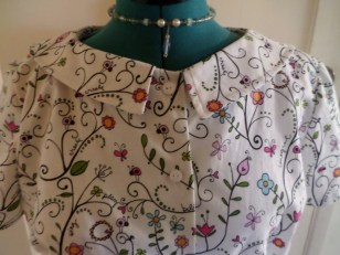 Sassy Librarian Blouse Bodice View 1
