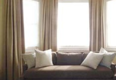Bedroom Bay Window Dressing Beautiful Curtain Window