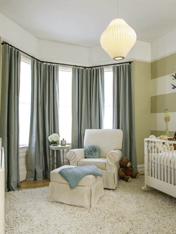 Noe Valley Nursery With Blackout And Sound Reducing Curtains Stitch SF