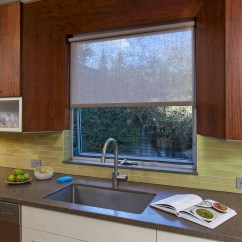 Modern Kitchen Window Treatments Ideas For Kitchens Covering Solutions Subtle Roller Shade In