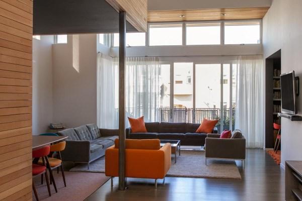Sheer Window Custom Treatments Contemporary Home In San Francisco. Stitch Sf