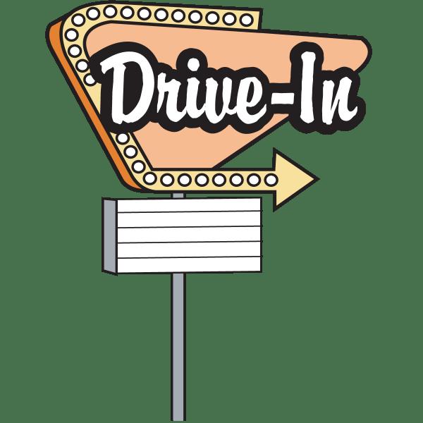 Drive in Sign Clip Art