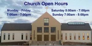 Church Open Hours