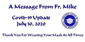 Covid-19 Update July 30, 2020