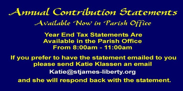 Tax Statements Available