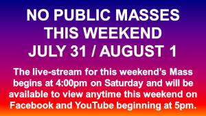 No Public Masses This Weekend