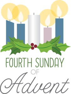 Advent Wreath with 4 lighted candles