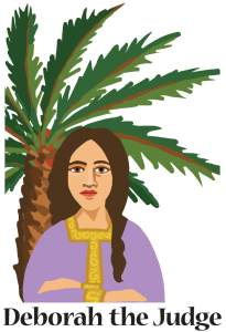 deborah the judget standing before palm tree