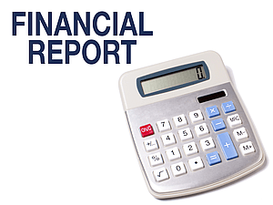 Calculator with words Financial Report