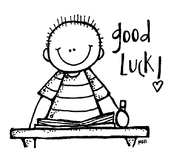 Good Luck On Test Sketch Coloring Page