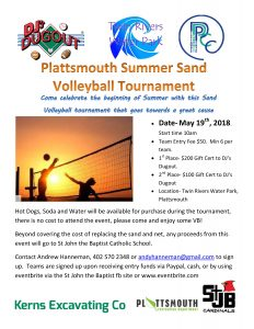 Summer Sand Volleyball Tournament @ Plattsmouth Twin Rivers Water Park /Community Center