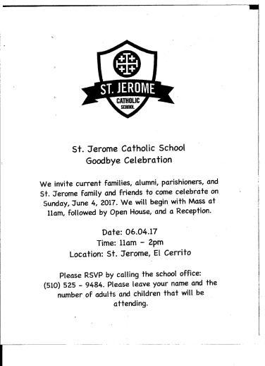 St Jerome School closing 001