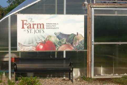The St. Joe's Farm sign! Look for other signs around the hospital campus.