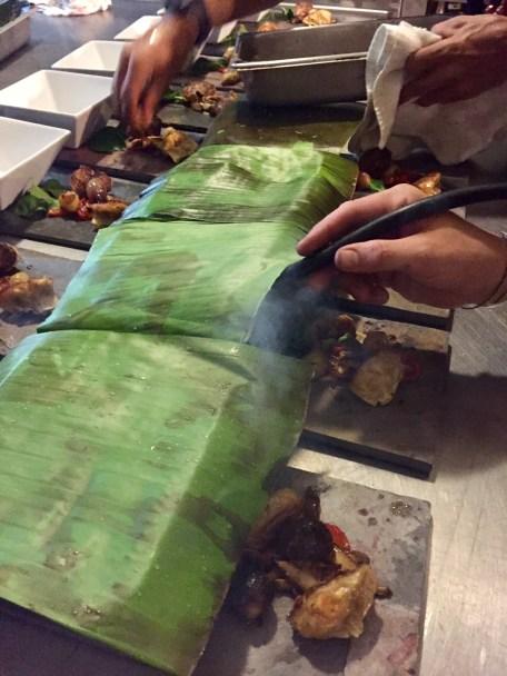 Adding smoke before serving