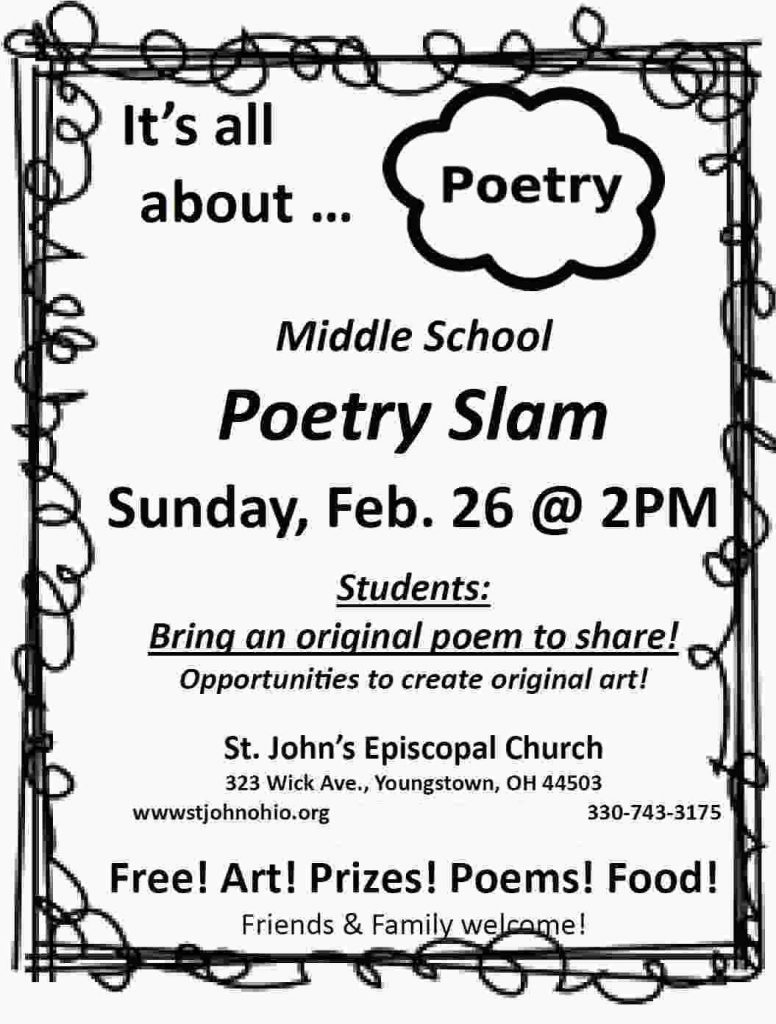 Middle School Poetry Slam 2/26/17
