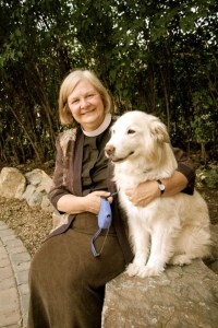 Joan, with her canine companion, Lily