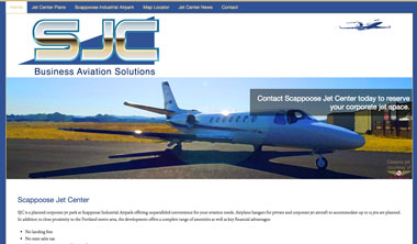 Scappoose Jet Center website screenshot
