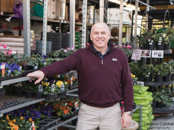 Mike Johnson in the St. Johns Ace Hardware garden center