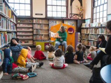 Story time at the St. Johns library