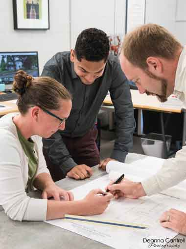 Convergence Architecture staff at work