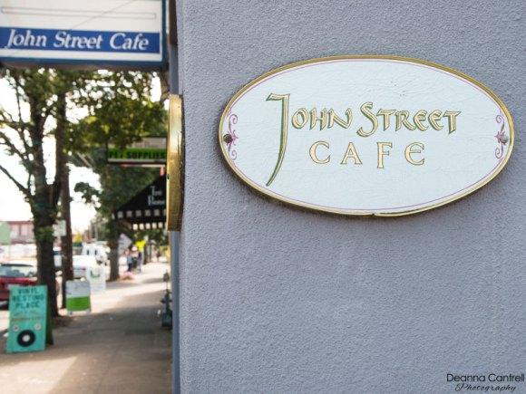 Entrance sign to John Street Cafe