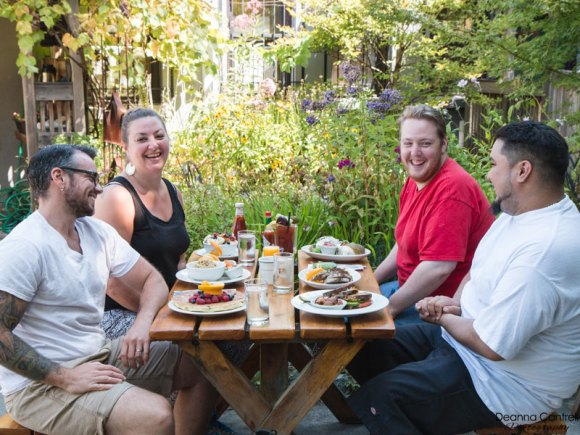 Outdoor diners on the John Street Cafe patio.