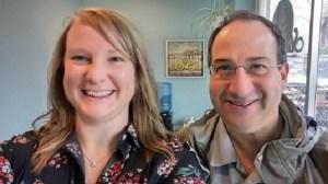 Dr. Melissa Bartoszewski and Frank Marzetta.