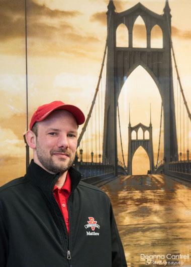 Matt Wiederholt, manager of St. Johns Burgerville
