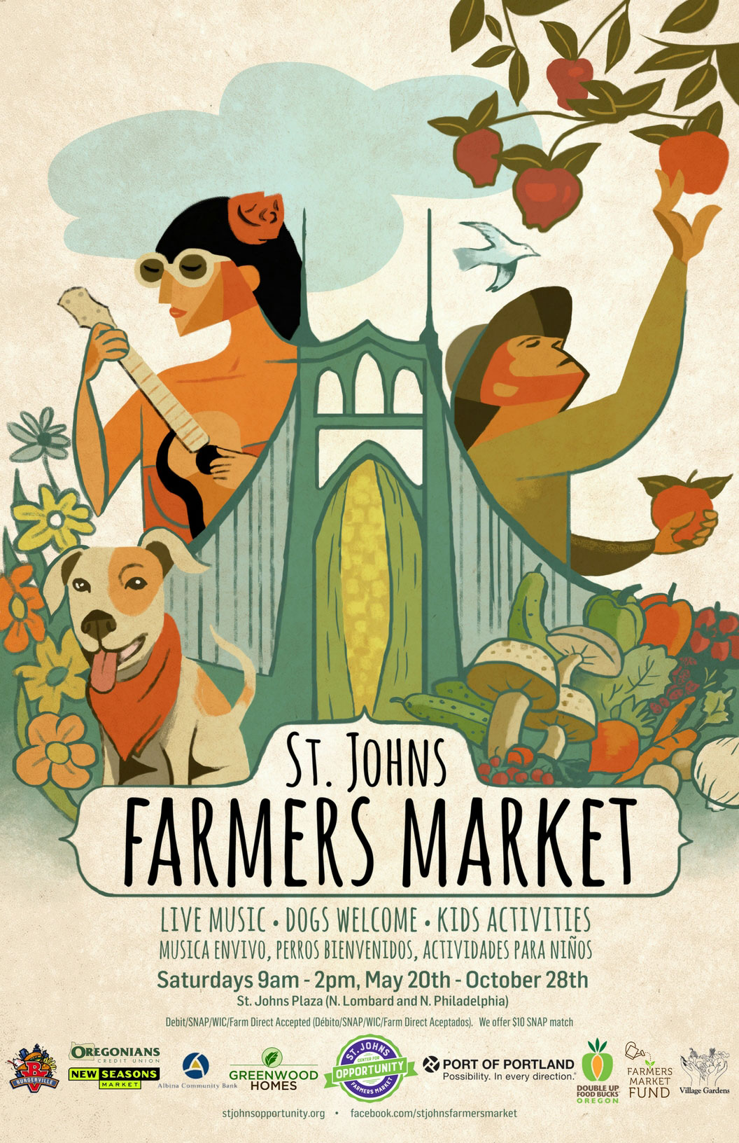St. Johns Farmers Market poster