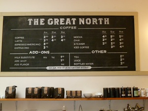 Great menu featuring Coava coffee