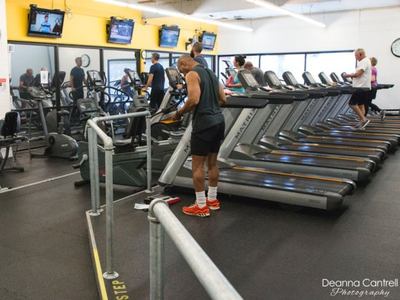 Running machines and televisions at West Coast Fitness