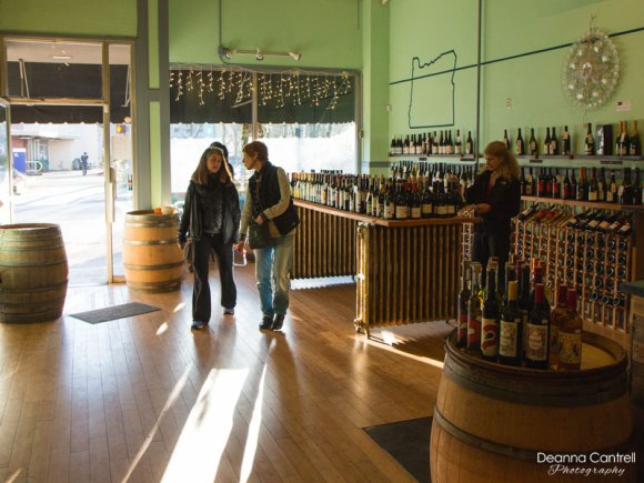 45th Parallel Wines display