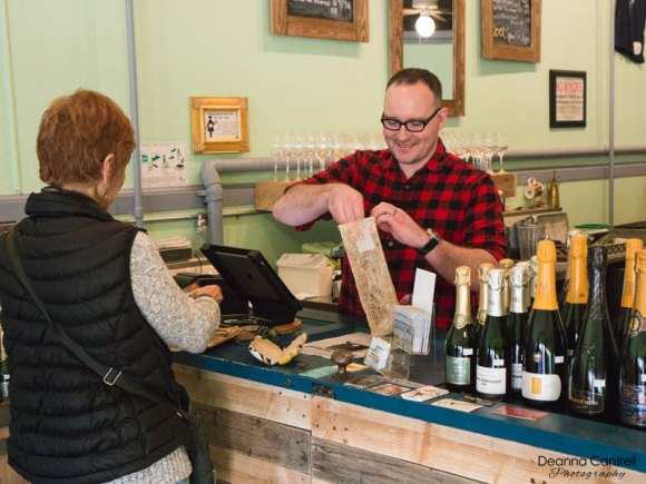45th Parallel Wines with Matt and a customer
