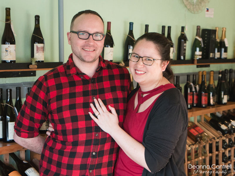 Matt and Shannon, founders of 45th Parallel Wines
