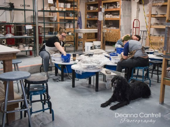 Clay studio at the St. Johns Clay Collective
