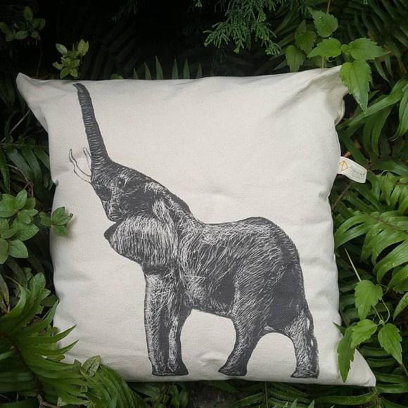 Alshiref Design elephant pillow