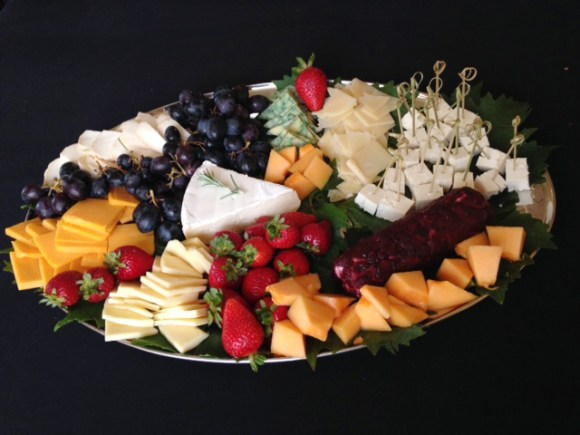 deluxe cheese and fruit platter
